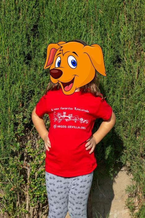 Camiseta infantil roja