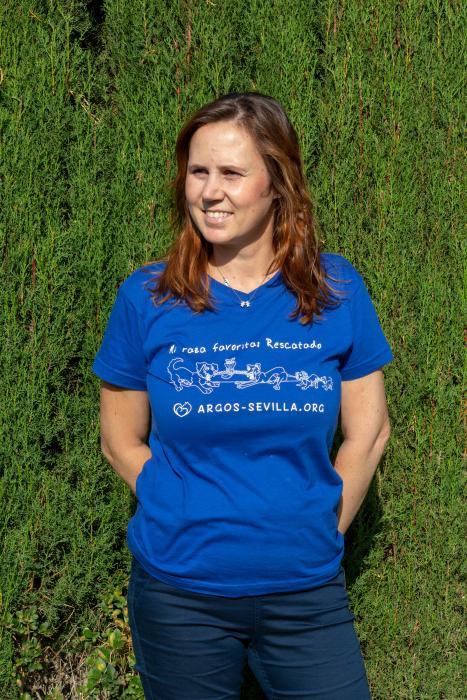 Camiseta adulto azul (unisex)